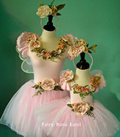 Fairy Costumes - MOMMY & ME -  Adult medium and child's 2T - 4T. $150.00, via Etsy.