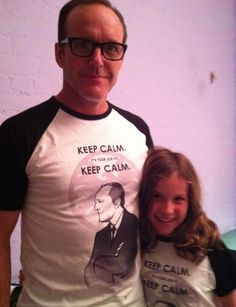 Clark Gregg wears BAMF Coulson t-shirt, wins all the things.