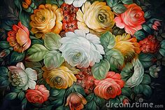 Black Tray Painted With Floral Patterns. - Download From Over 31 Million High Quality Stock Photos, Images, Vectors. Sign up for FREE today. Image: 14059819