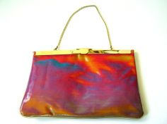Wacky 1980s Rainbow Hologram Purse. I think I had one of these in the 90s. Why did I get rid of it??