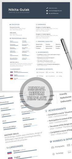 Free Resume  Cover Letter PSD Templates (2 Colors) Free stuff