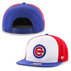 c8e2364fb80 You ll definitely look sharp this baseball season with this Chicago Cubs Amble  Snapback Adjustable Cap from Brand! This hat is all royal blue