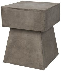 Add some fun to your patio decor with this unique Safavieh Zen Mushroom accent end table. Marble End Tables, Patio Umbrellas, End Tables With Storage, New Home Designs, Table Furniture, Concrete Furniture, Cement, Home Furnishings, Indoor Outdoor