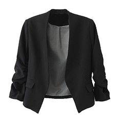 c09cc3dd947 awesome Womdee Women Fashion Puff Sleeve Buttonless Suit Office Blazers  With Womdee Accessory