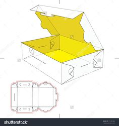 Box With Flop Lid And Blueprint Layout Stock Vector Illustration 171281486 : Shutterstock