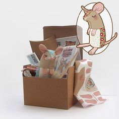 Christmas Flower Mouse Plush Kit by WoodMouseandBobbit on Etsy