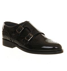 Office Valentine Monk Shoe Black Patent Leather - Flats