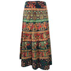 Mogulinterior Hippie Wrap Skirt Womens Beach Long Sarong Beach Wrap Around Holiday Wear Dress