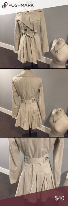 For Cynthia Jacket Perfect light jacket!  Adorable & flattering details that accent the waist!lined and dry cleaned.  Basically new condition! Jackets & Coats Trench Coats