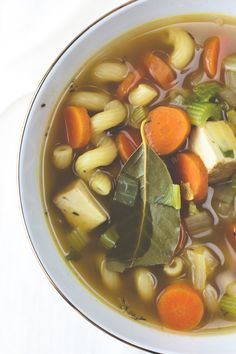 Produce On Parade - Chickenless Noodle Soup