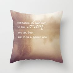 sometimes on the way to the dream Throw Pillow by Sylvia Cook Photography - $20.00
