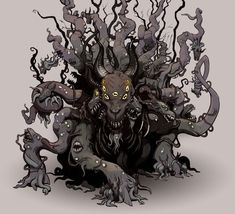 fhtagn-and-tentacles:  BLACK GOATbyMilhail Glooh    You can do no wrong channeling your inner Erol Otus.