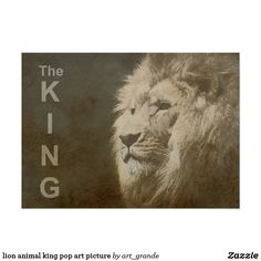 lion animal king pop art picture poster