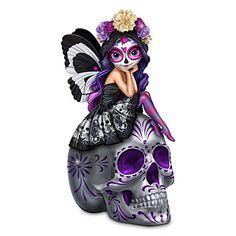 Spirit Of The Dearly Loved Figurine Sugar Skull, Fairies, Joker, Glow, Faeries, Sugar Skulls, Candy Skulls, Jokers, Sugar Skull Face