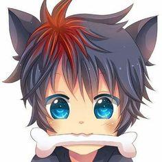 anime neko he Neko Boy, Chibi Boy, Kawaii Chibi, Cute Chibi, Anime Neko, Anime Cat Boy, Anime Art, Boy Cat, Anime Boys