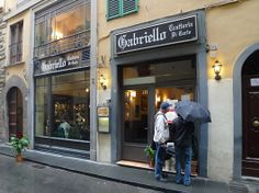 Trattoria Gabriello From the Piazza Repubblicca, head east on Via Porta Rossa , which becomes Via Condotta. Restaurant is #54, 055/2102098. You must have the Ribollita, a tuscan bean and cabbage stew thickened with day old bread.