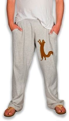what a fab christmas present this would be for the man in your life haha... I could probably make this with some plain pants and an iron-on squirrel