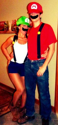 Me and @Nick D as Mario and Luigi (2012) #couples #halloween #costume #nintendo