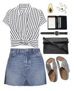 """""""silver lining"""" by michcouture ❤ liked on Polyvore featuring T By Alexander Wang, GRLFRND, Abercrombie & Fitch, J.Crew, Royce Leather and ASOS"""