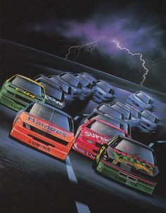 Days of Thunder Nascar Memes, Nascar Diecast, Nascar Racing, Auto Racing, Car Posters, Retro Futurism, Retro Cars, Vintage Racing, Courses