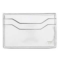TOM FORD Metallic Leather Card Holder. #tomford #bags #leather #metallic #cardholder #accessory