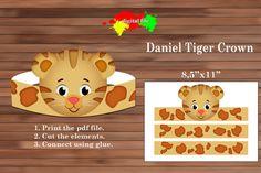 Daniel Tiger paper Crown Paper Crown PDF Instant Download