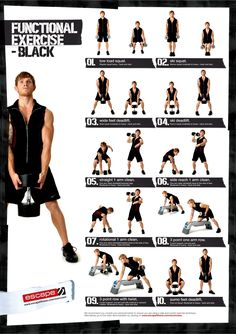Poster with 10 more dumbbell exercises