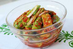 Oi Kimchi (Cucumber Kimchi)- kind of missing Korean food.