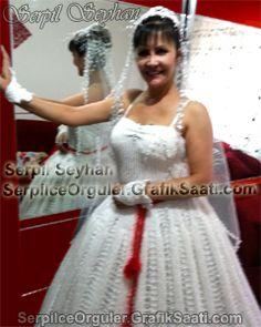 Knitting wedding dress  Örgü gelinlik