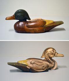 Decoy Study (Duck), 2014. (re-)carved duck decoy by Maskull Lasserre