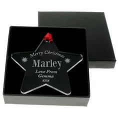 Engraved Christmas Star Decoration - Pet Dog  from Personalised Gifts Shop - ONLY £9.99