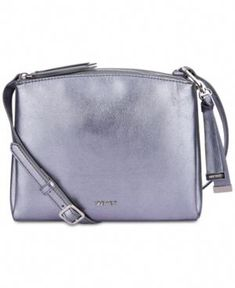 d915fc5f2128 Nine West Levona Metallic Crossbody - Silver #Guccihandbags Metallic Bag,  Prada Handbags, Cross