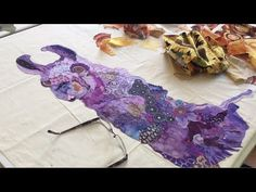 Susan Carlson: Making a Pattern for a Fabric Collage Quilt Fabric Painting, Fabric Art, Fabric Crafts, Quilting Tutorials, Quilting Projects, Art Tutorials, Animal Quilts, Dog Quilts, Fiber Art Quilts