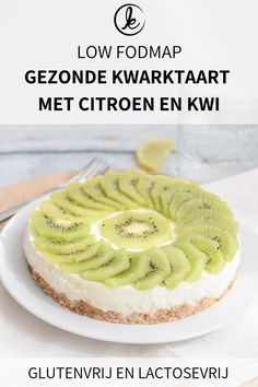 Low FODMAP healthy cheesecake with lemon and kiwi. Delicious for breakfast or as a healthy snack. Lactose-free and gluten-free Healthy Cheesecake, Cheesecake Recipes, Cookie Recipes, Dessert Recipes, Lactose Free Cheesecake, Snack Recipes, Healthy Recipes, Baking Recipes, Diet Recipes