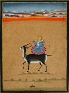 (Unknown). Folio from a Tantric Manuscript on Ekadashi, the 11th Tithi of Shukla Paksha. Jaipur. 1800.