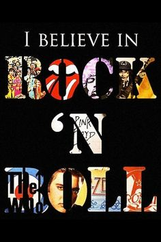I believe in rock n' roll // American Hippie ☮ Music Collage