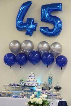 Felien Torres Lyn Decorndessertdiva Setting Up For My Pas 45th Shire Blue Wedding Anniversary