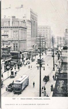 third street in portland 1905
