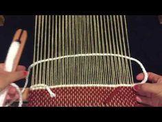 TELAR MARIA 1 TEJIDO PUNTO BASICO Fillet Crochet, Knitting Videos, Tear, Loom Weaving, Weaving Techniques, Handmade Bracelets, Knots, Knit Crochet, Youtube