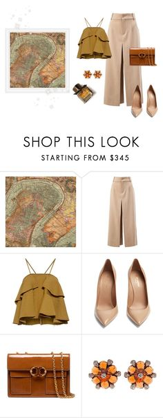 """""""Old Map"""" by romaosorno ❤ liked on Polyvore featuring WALL, Chloé, Rachel Comey, Yves Saint Laurent, Tory Burch and Burberry"""