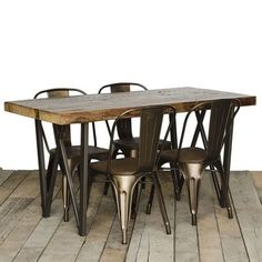 """Urban Wood Goods West Loop Dining Table Top Finish: Natural, Size: 30"""" H x 36"""" W x 72"""" L"""