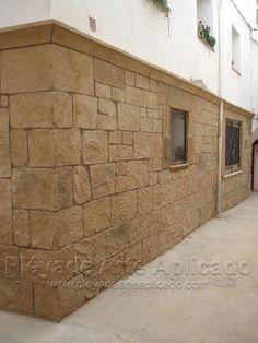 Decoraci n de fachadas con piedra artificial y estuco decoraci n en viviendas pinterest - Piedra artificial para fachadas ...