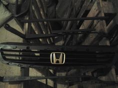 #honda #oem #grill #with #gold #emlbem