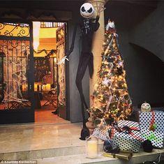 "Kardashian ""Nightmare Before Christmas"" Party Nightmare Before Christmas Decorations, Nightmare Before Christmas Halloween, Halloween Trees, Halloween Home Decor, Halloween Christmas, Halloween House, Christmas Themes, Halloween Decorations, Holiday Ideas"