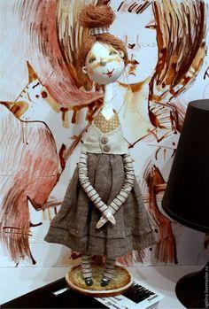 Коллекционные куклы ручной работы. Варвара,авторская кукла, 37 см.смешанная техника. Докучаева Галина. Интернет-магазин Ярмарка Мастеров.