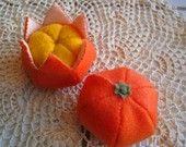 clementine felt orange