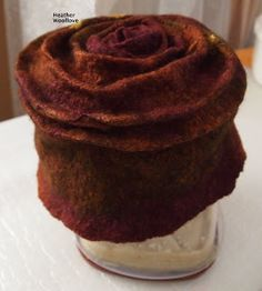 """Wool love-functional fiber art: """"In For A Penny, In For A Pound"""" Wet-Felted Hat Felt Hat, Wool Felt, Felted Wool, Hat Tutorial, Bow Accessories, Fashion Accessories, Nuno Felting, Needle Felting, Millinery Hats"""