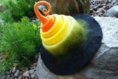 Halloween fairy/ witch hat handfelted  of wool от zavesfelt
