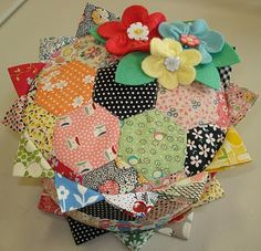 Bee In My Bonnet..a favorite pincushion. I love hexagons so really any pincushion made of them would thrill me.