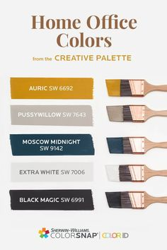 Office Paint Colors, Paint Colors For Home, House Colors, Colour Pallete, Color Combos, Color Schemes, House Color Palettes, Room Paint, Interior Paint